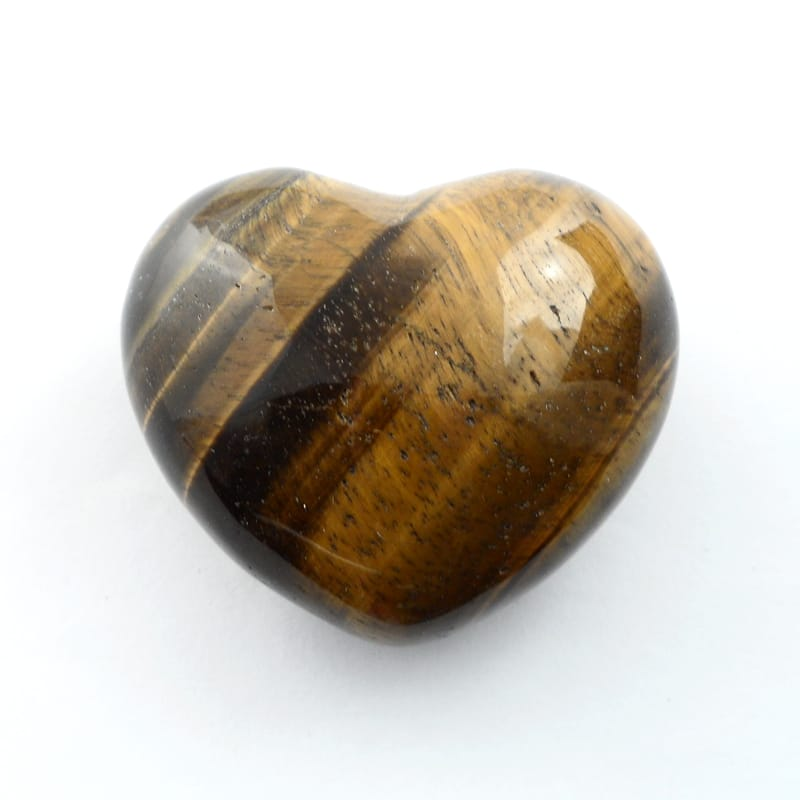 Tiger Eye Puffy Heart Polished Crystals heart