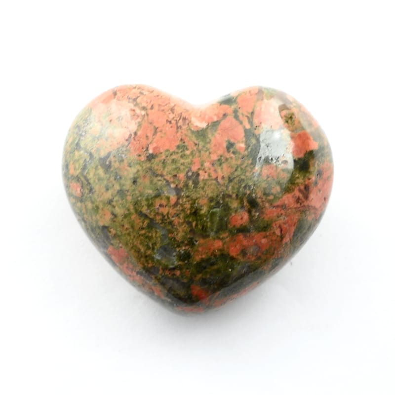 Unakite Heart All Polished Crystals heart