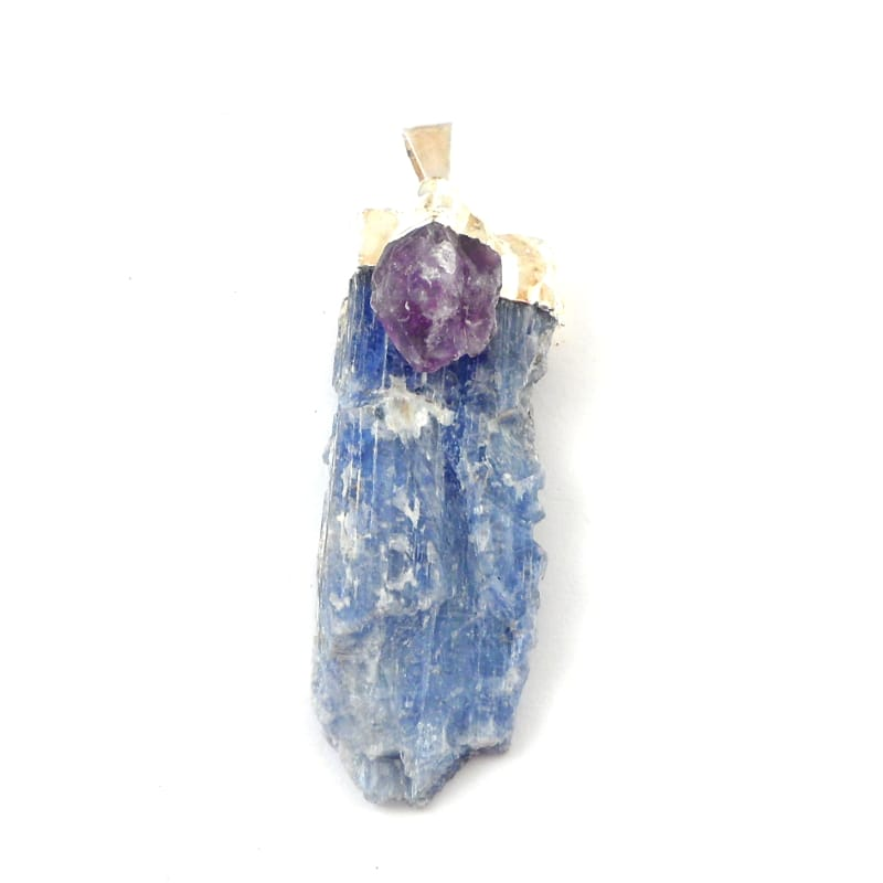 Kyanite with Amethyst Pendant All Crystal Jewelry amethyst