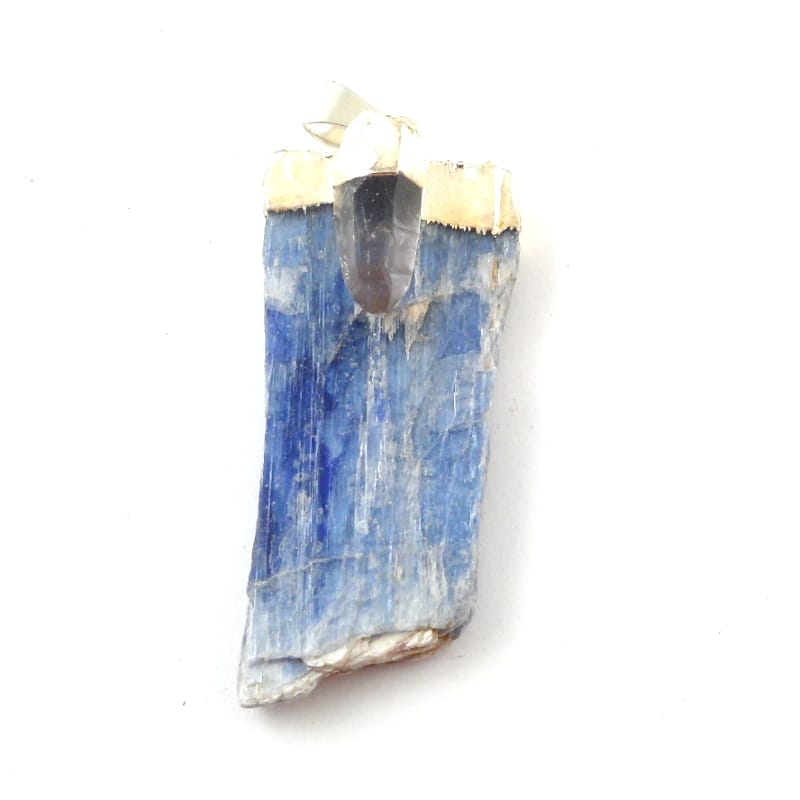 Kyanite with Quartz Pendant All Crystal Jewelry kyanite