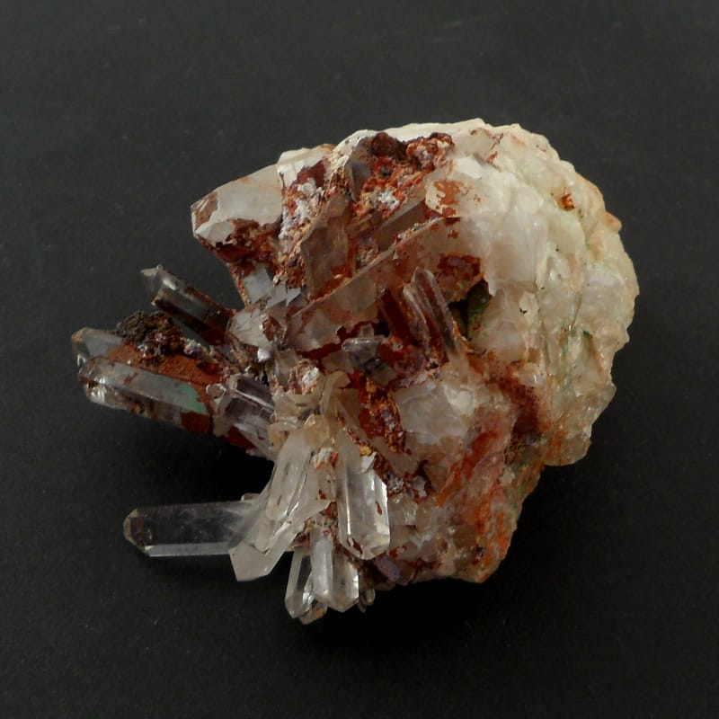 Quartz with Iron Inclusions All Raw Crystals cluster