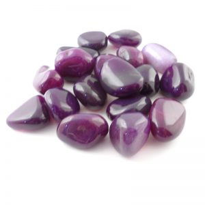 Agate, dyed and tumbled, 8oz All Tumbled Stones dyed agate