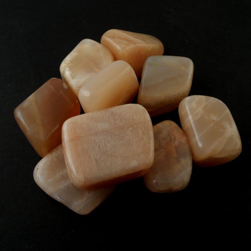 Moonstone, Peach, tumbled, 4oz Tumbled Stones moonstone