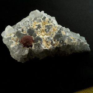 Fluorite, Gyrolite, and Corundum Specimen All Raw Crystals corundum
