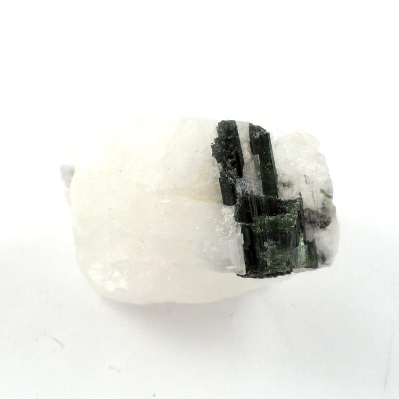 Green Tourmaline in Matrix Raw Crystals green tourmaline