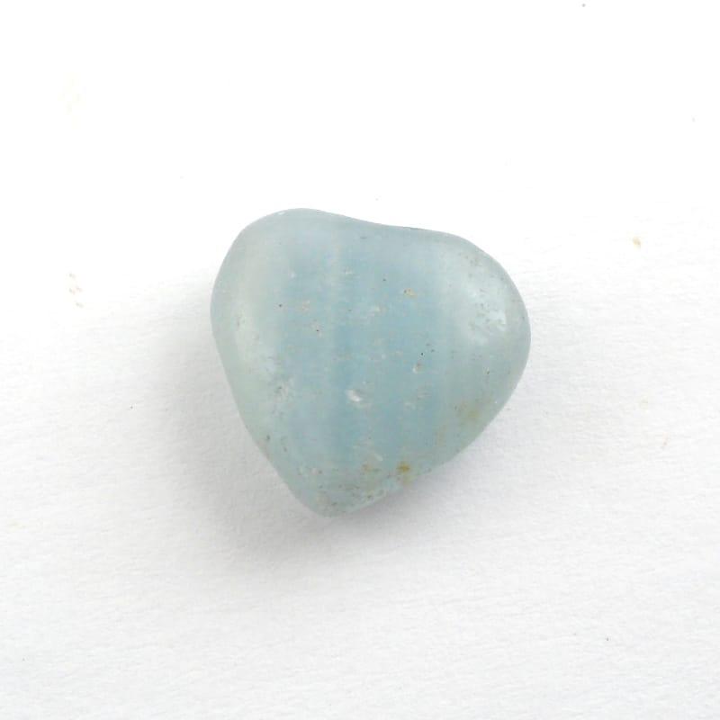 Lemurian Aquatine Calcite Heart