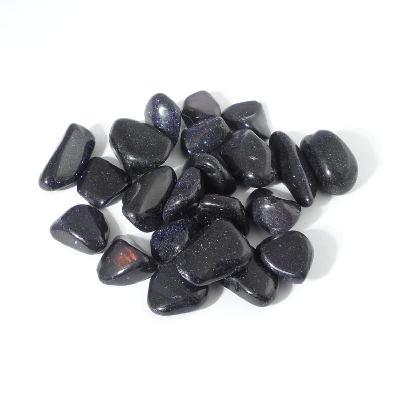 Goldstone, Blue, md, tumbled, 4oz All Tumbled Stones blue goldstone