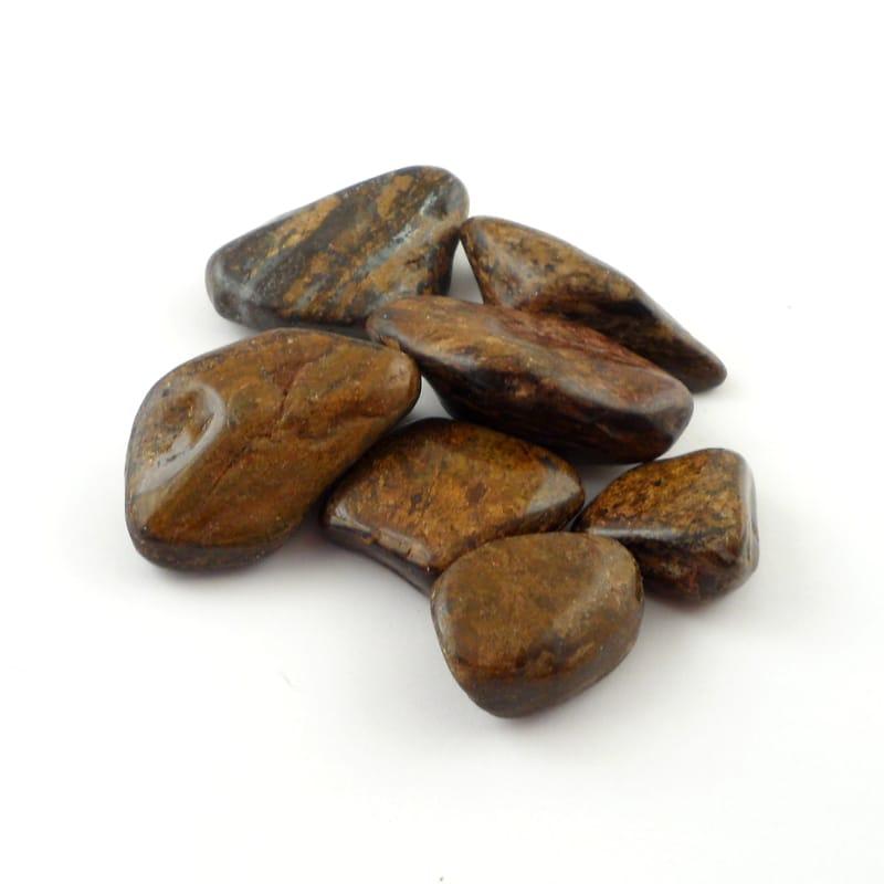 Bronzite, tumbled, 4oz All Tumbled Stones