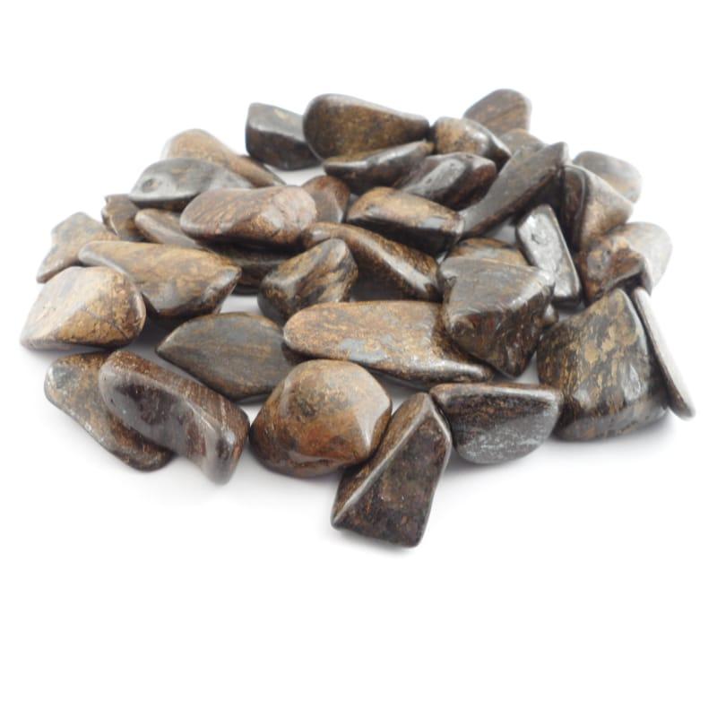 Bronzite, tumbled, 8oz Tumbled Stones bronzite