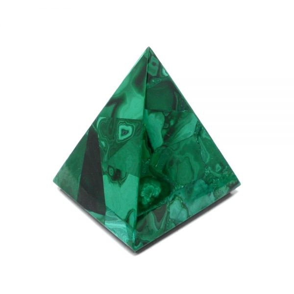 Malachite Pyramid All Polished Crystals malachite