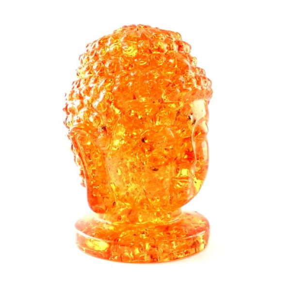 Amber Buddha Head, Reconstituted All Specialty Items amber