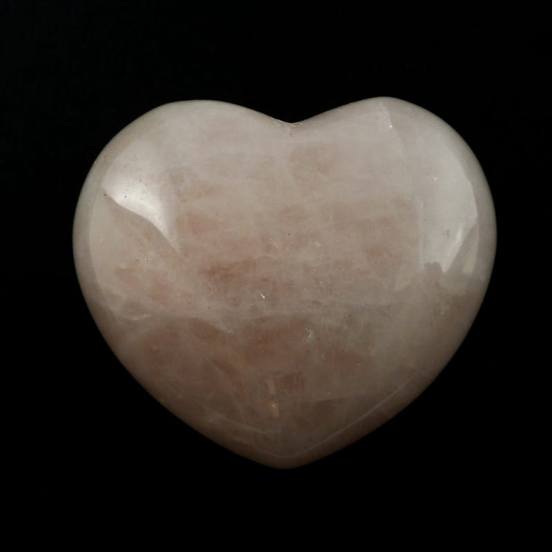 Quartz, Rose Puffy Heart All Polished Crystals