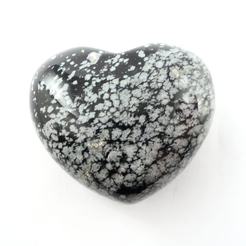 Obsidian, Snowflake, Puffy Heart, 45mm