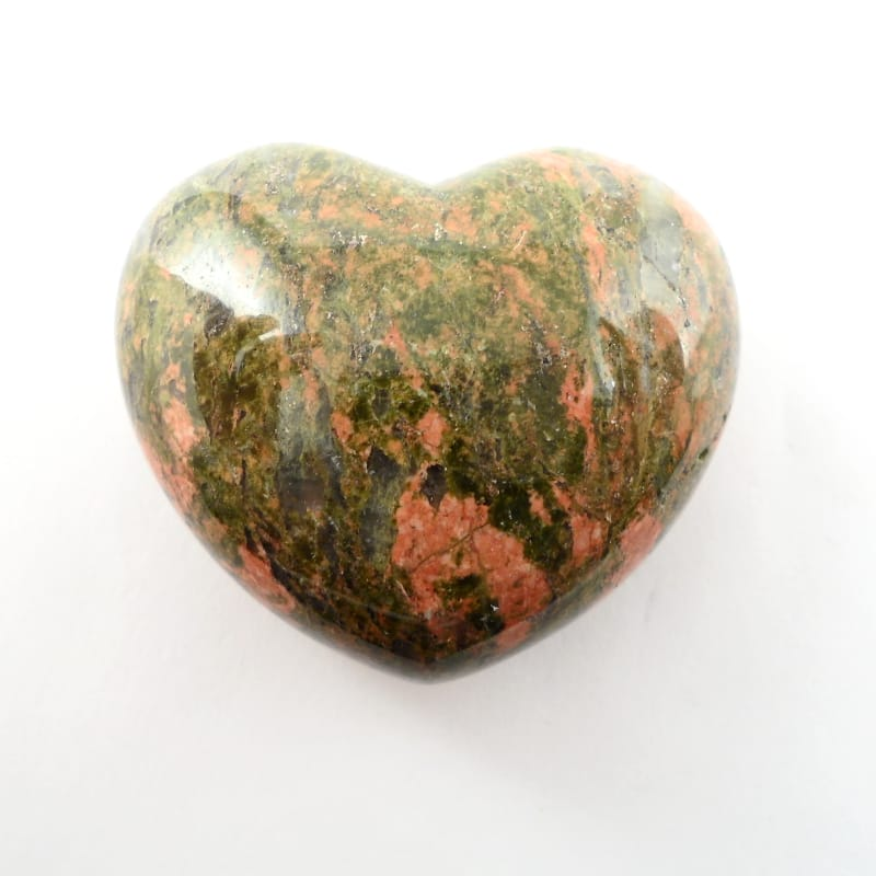 Unakite Puffy Heart All Polished Crystals
