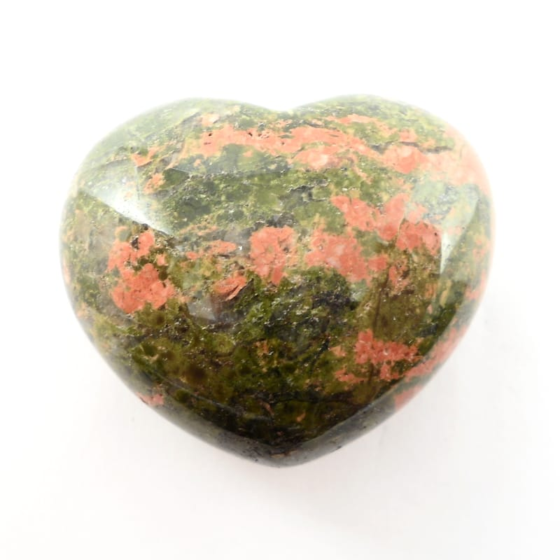 Unakite Puffy Heart All Polished Crystals heart