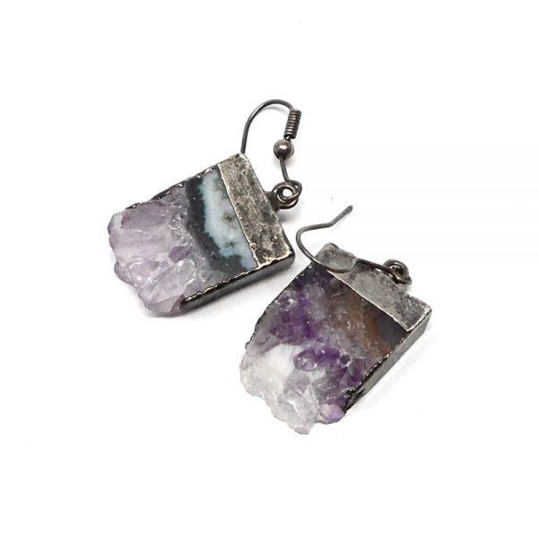 Amethyst Slice Earrings All Crystal Jewelry amethyst