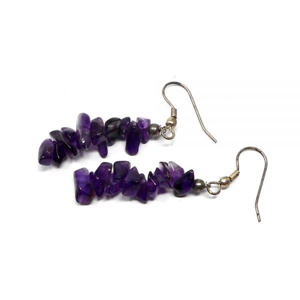 Amethyst Chip Earrings All Crystal Jewelry amethyst