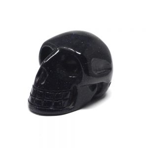 Blue Goldstone Skull Polished Crystals blue goldstone