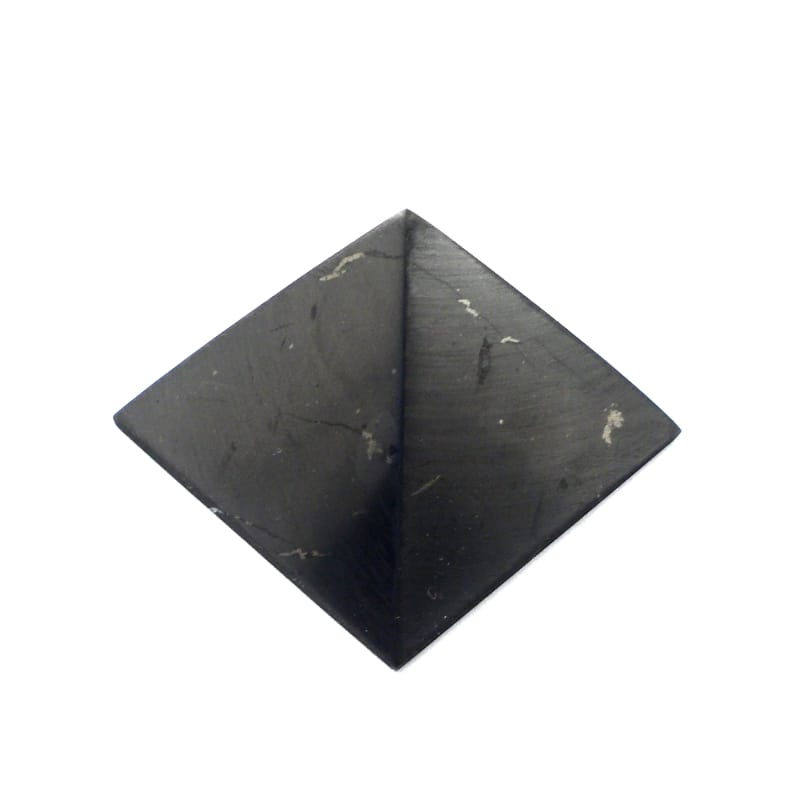 Shungite Pyramid All Polished Crystals pyramid