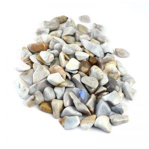 Chalcedony, Blue, tumbled, 16oz All Tumbled Stones blue chalcedony