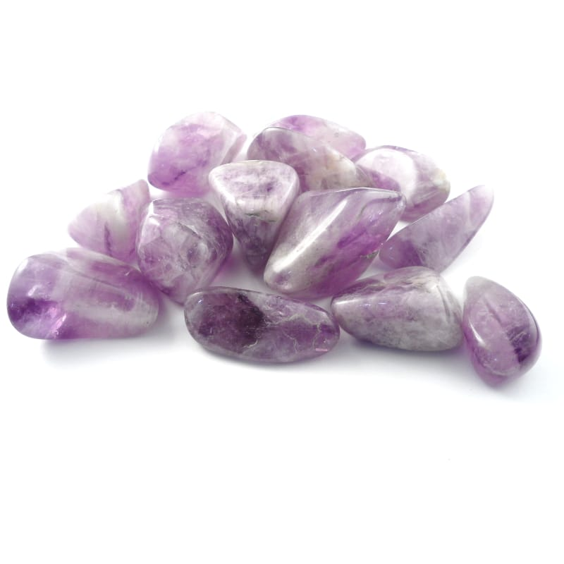 Amethyst, tumbled, md to lg, 8oz All Tumbled Stones amethyst