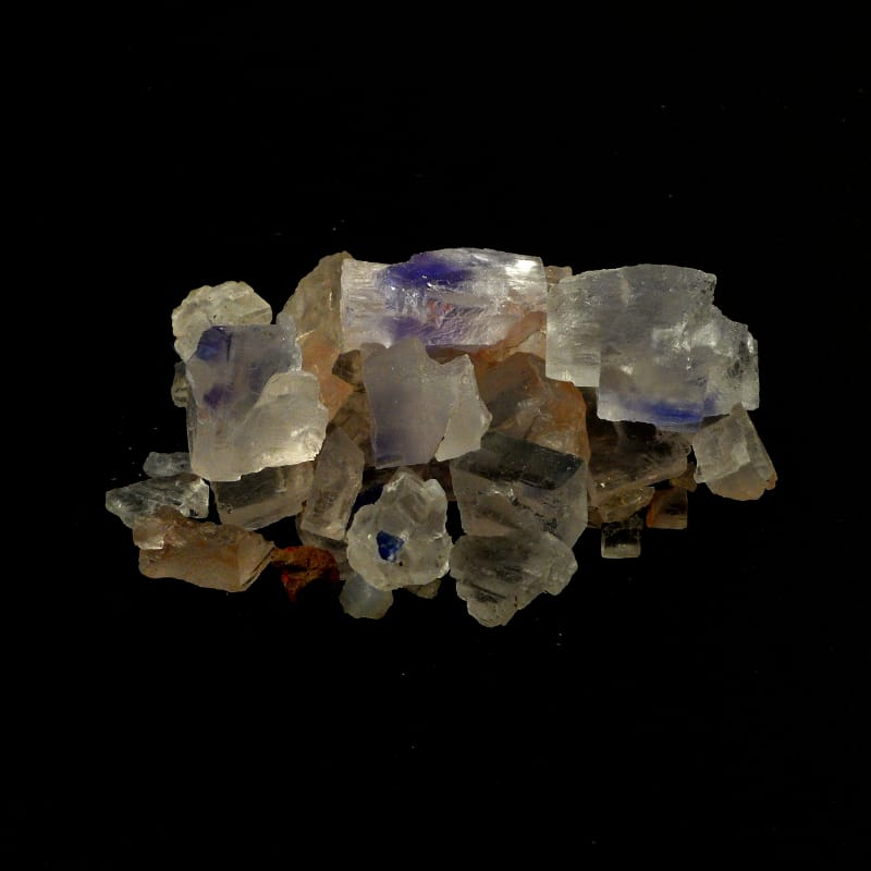 Halite, Blue and Clear pieces All Raw Crystals blue halite