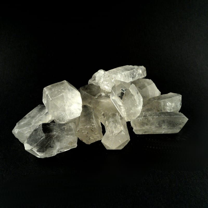 Quartz Points, A grade, small, 8oz All Raw Crystals