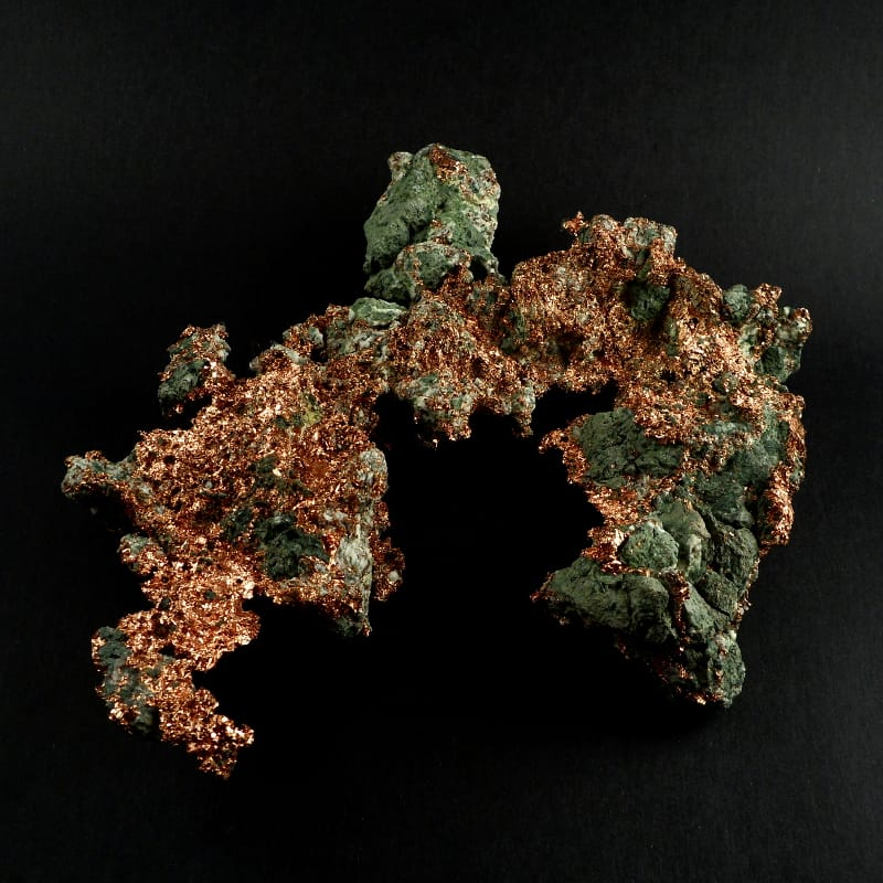 Copper Mineral Specimen, Large All Raw Crystals