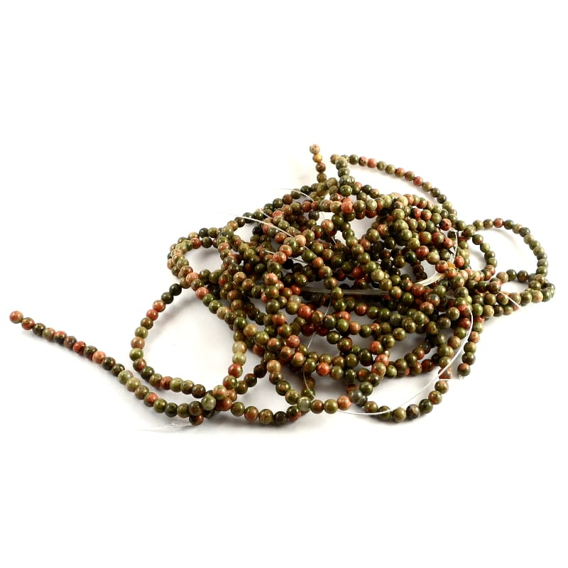 Unakite 4mm Round Bead Strand All Crystal Jewelry 4mm bead