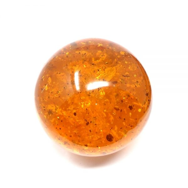 Amber Sphere 85mm All Polished Crystals amber