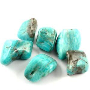 Amazonite, tumbled, 4oz Tumbled Stones amazonite