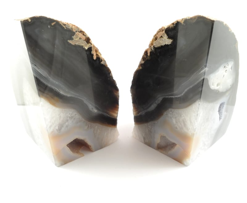 Agate Bookends, black All Specialty Items