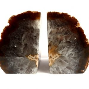 Agate Bookends, brown