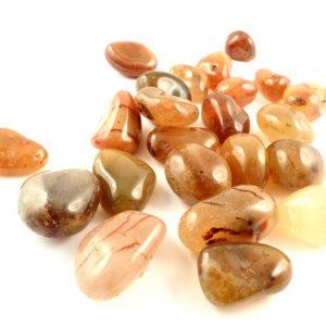 Agate, Carnelian, tumbled, 16oz lg All Tumbled Stones
