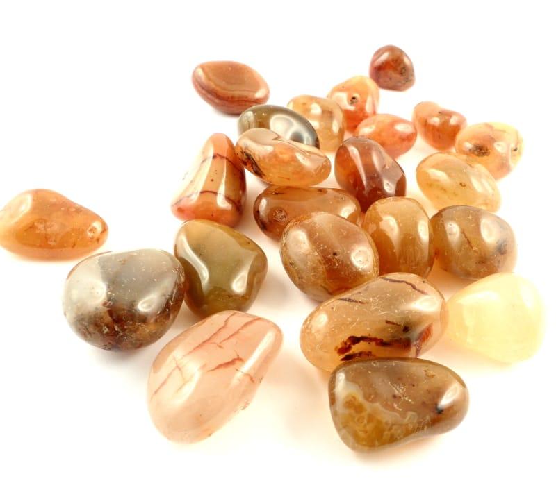 Agate, Carnelian, tumbled, 16oz lg All Tumbled Stones carnelian
