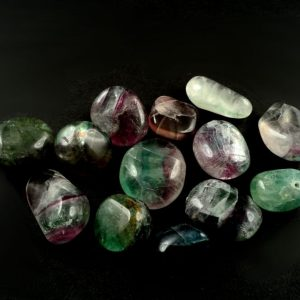 Fluorite, sm, tumbled, 8oz All Tumbled Stones fluorite