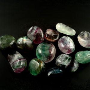 Fluorite, sm, tumbled, 8oz