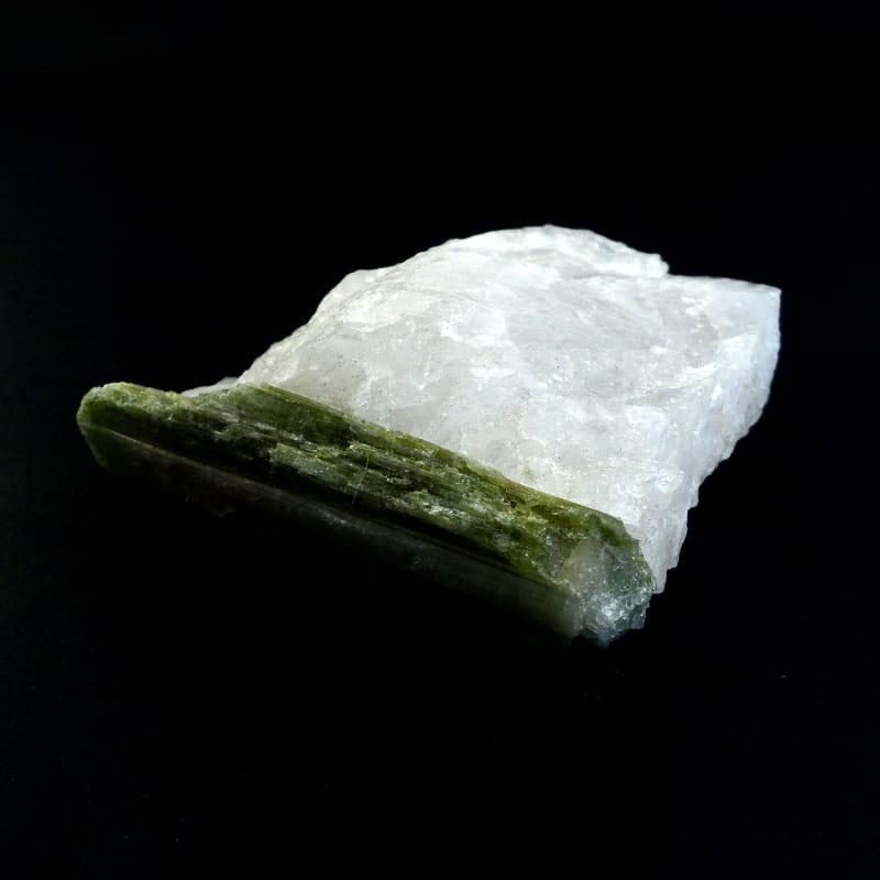 Tourmaline, Green on Matrix All Raw Crystals