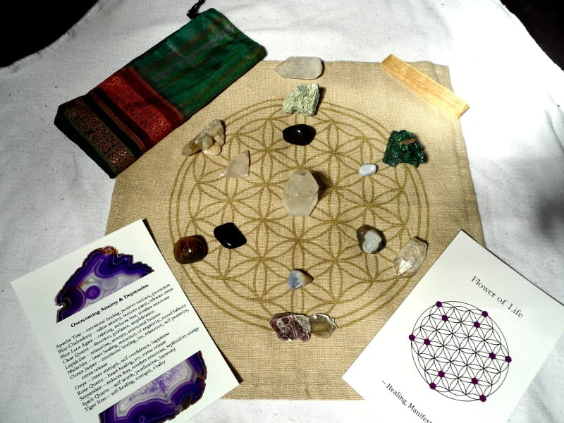 Make Your Own Crystal Grid – Overcoming Anxiety & Depression All Specialty Items