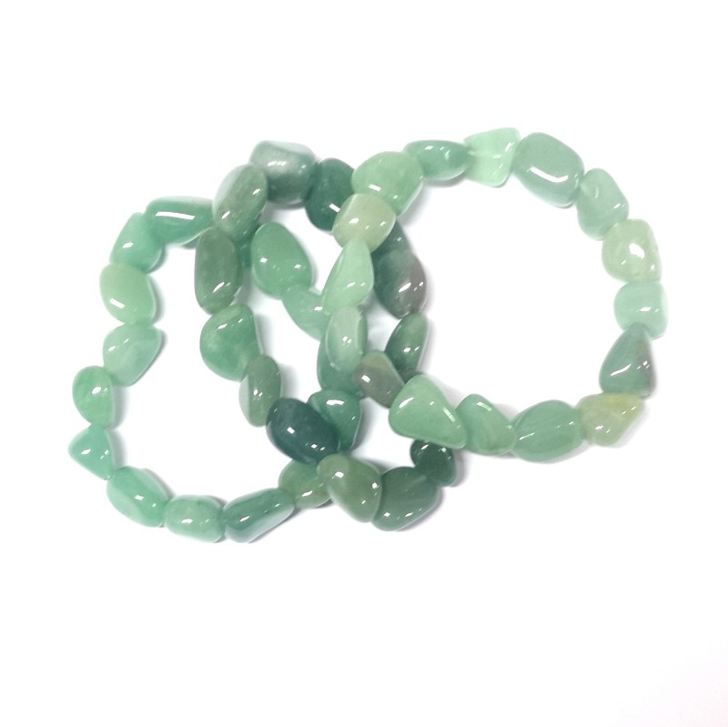 Aventurine Tumbled Stone Bracelet All Crystal Jewelry aventurine