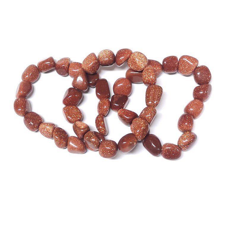 Goldstone tumbled stone bracelet All Crystal Jewelry