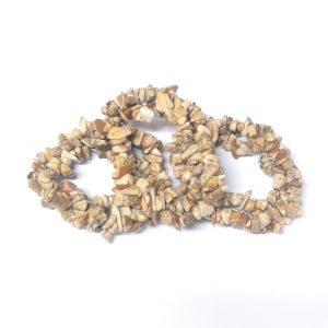Picture Jasper Three Strand Chip Bracelet All Crystal Jewelry bracelet