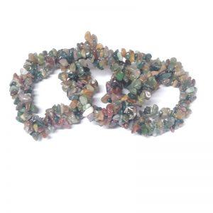 Fancy Jasper Three Strand Chip Bracelet All Crystal Jewelry bracelet