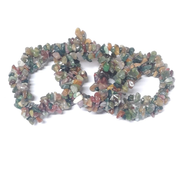 Fancy Jasper Three Strand Chip Bracelet All Crystal Jewelry bracelet