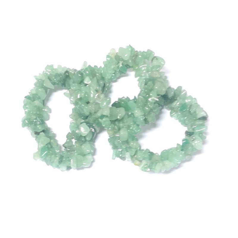 Aventurine Three Strand Chip Bracelet