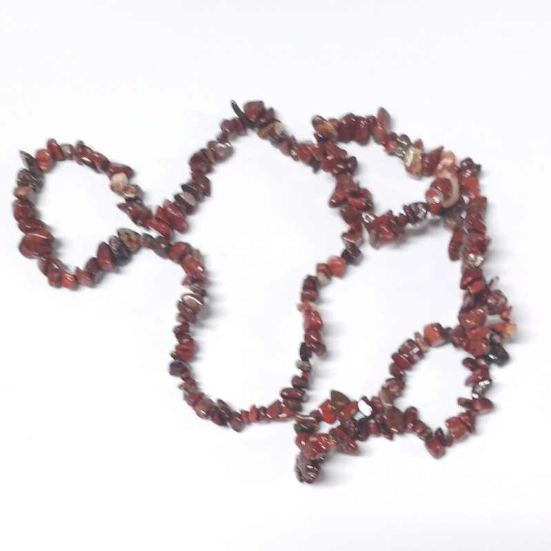Brecciated Jasper Chip Bead Strand All Crystal Jewelry