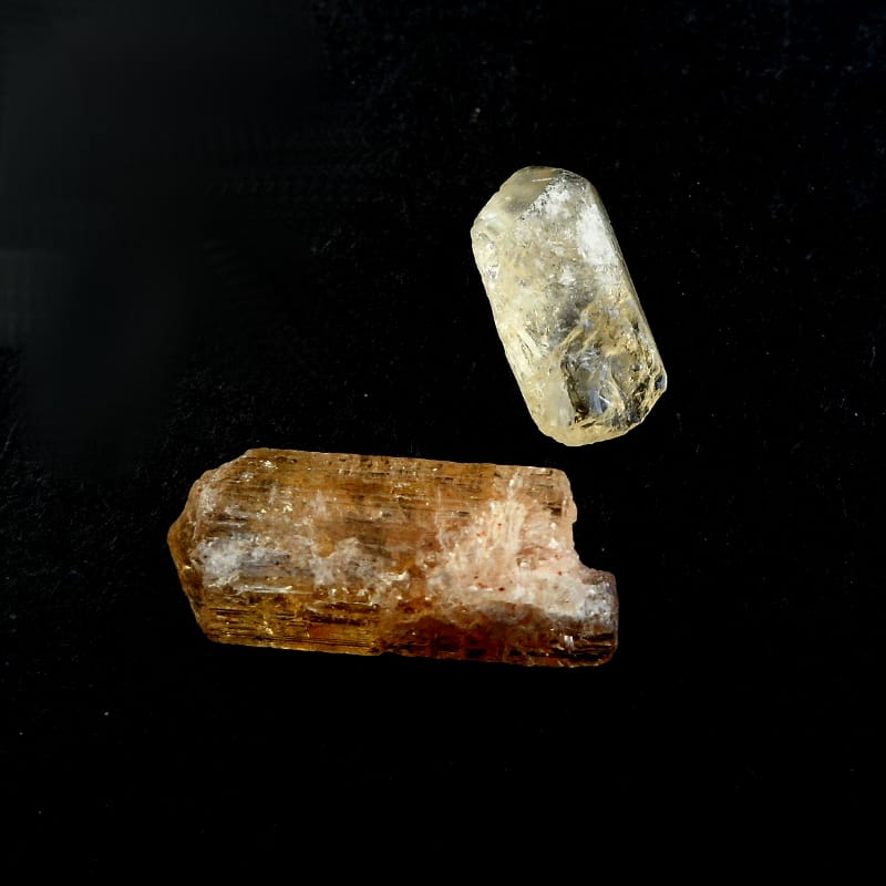 Imperial Topaz Raw Crystals imperial topaz