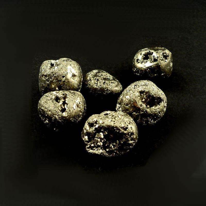 Pyrite, tumbled, 4oz Tumbled Stones pyrite