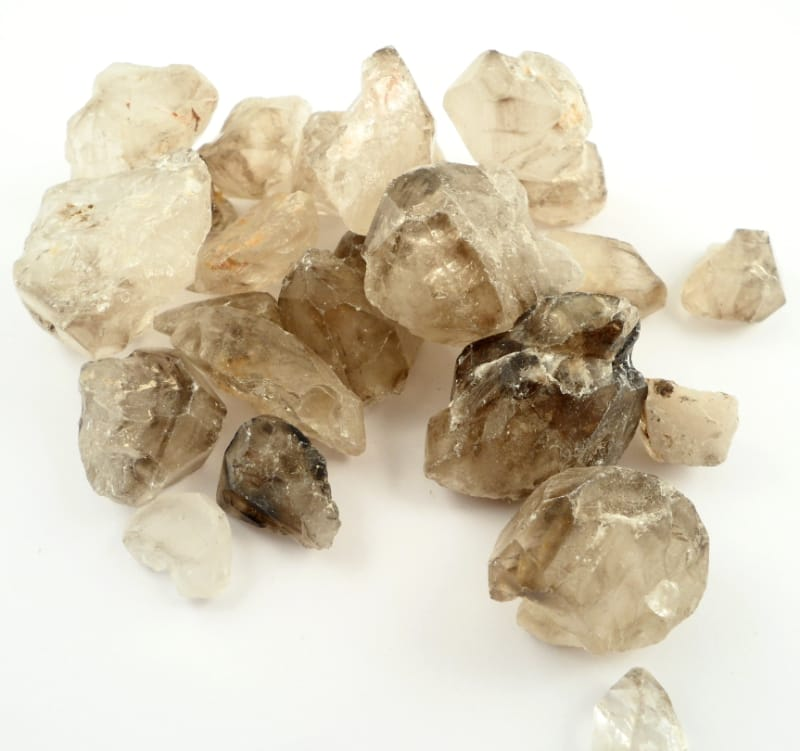 Smoky Quartz Points and Elestials All Raw Crystals