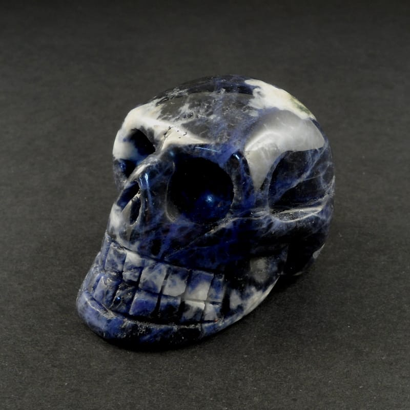 Sodalite Skull Polished Crystals skull